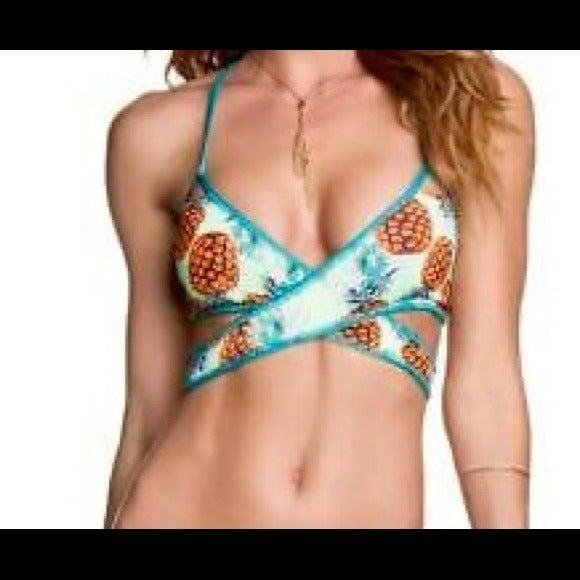Maaji Pineapple  wrap bikini top