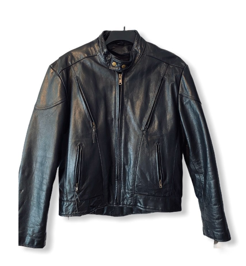 Leather-King Padded Motorcycle Jacket