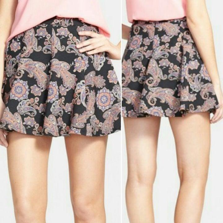 LUSH Skirt Pink Paisley Boho Fits Like S
