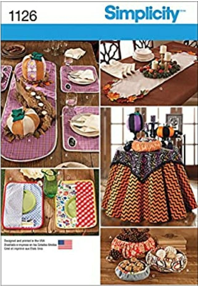 Simplicity 1126 Home Goods Table Accesso