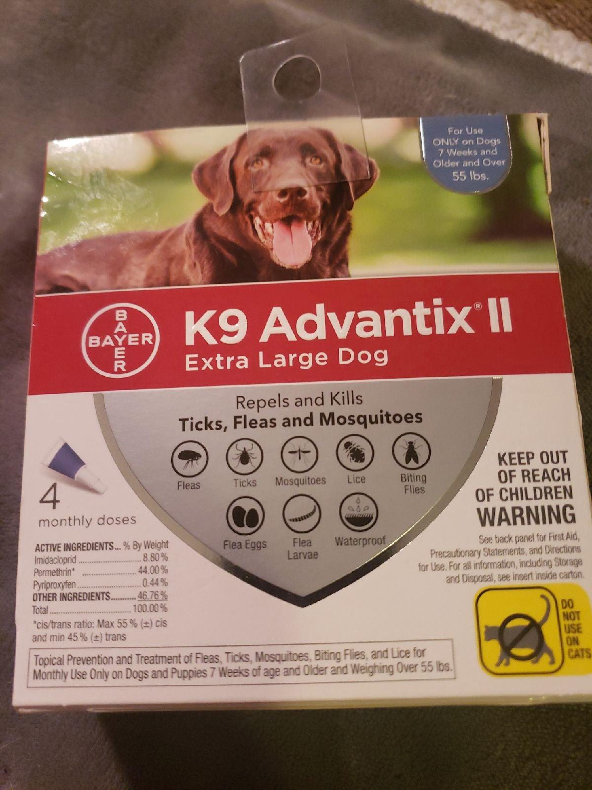 K9 Advantix 2 Extra large dogs 2 doses