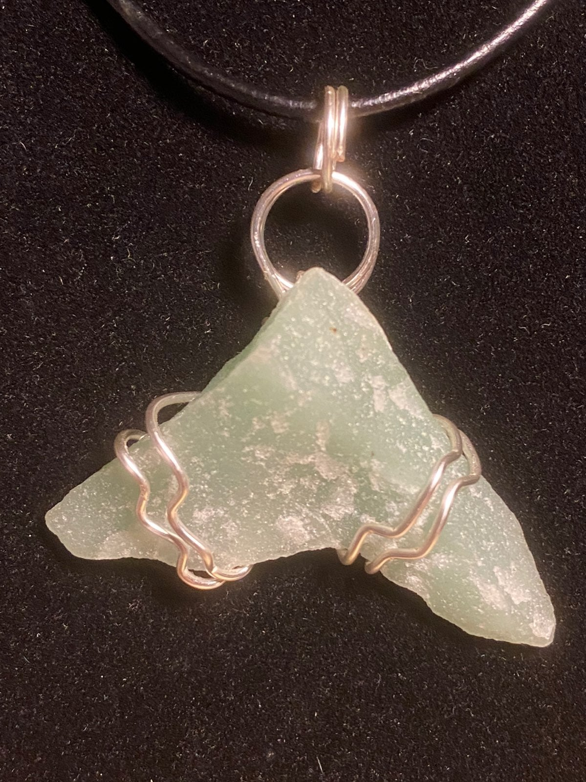 Wire Wrapped Green Adventurine Necklace