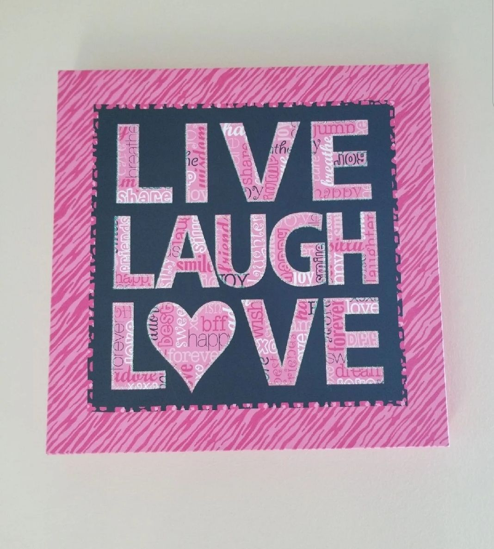 Live laugh love canvas print art