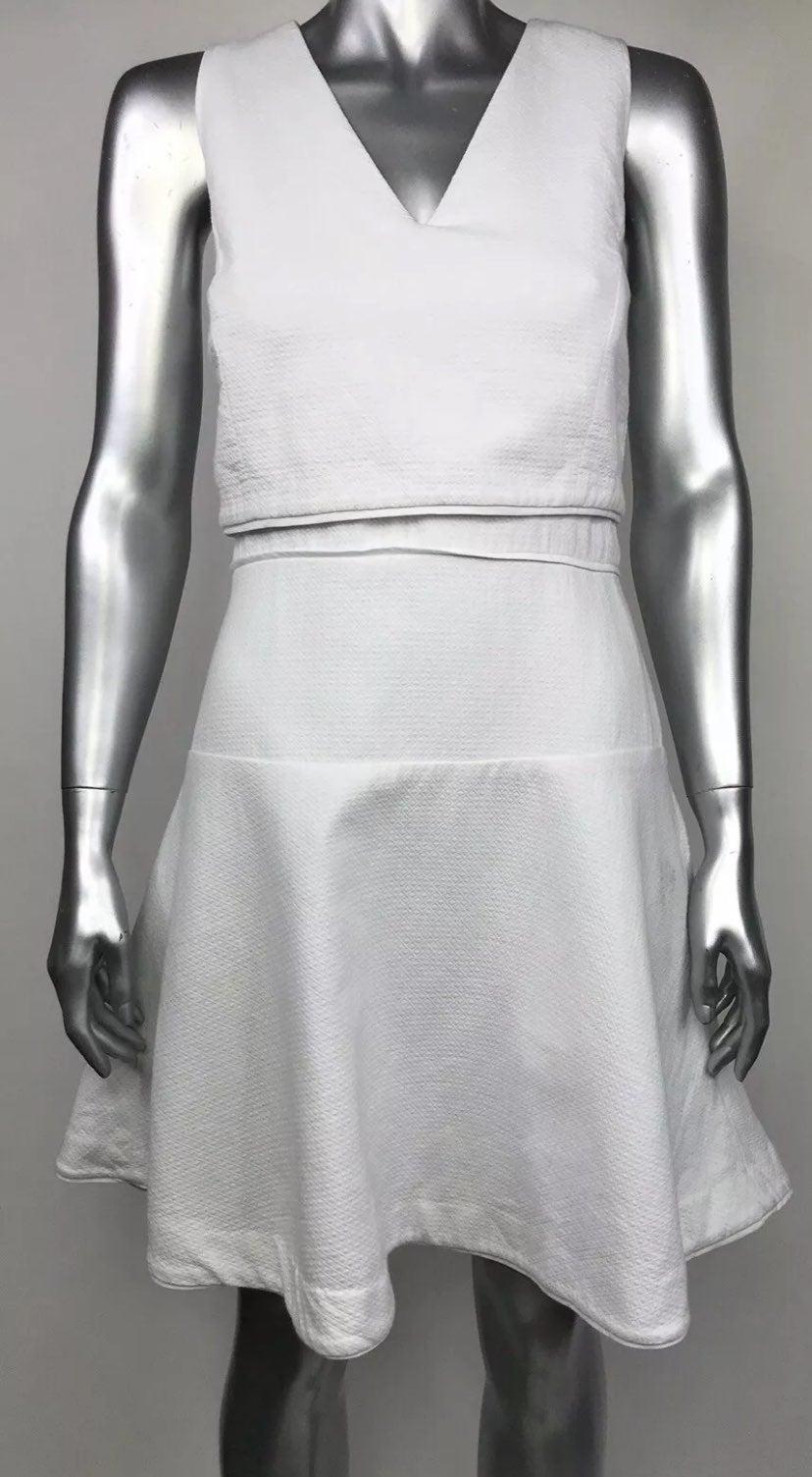 AX Armani Exchange Dress White V Neck 4