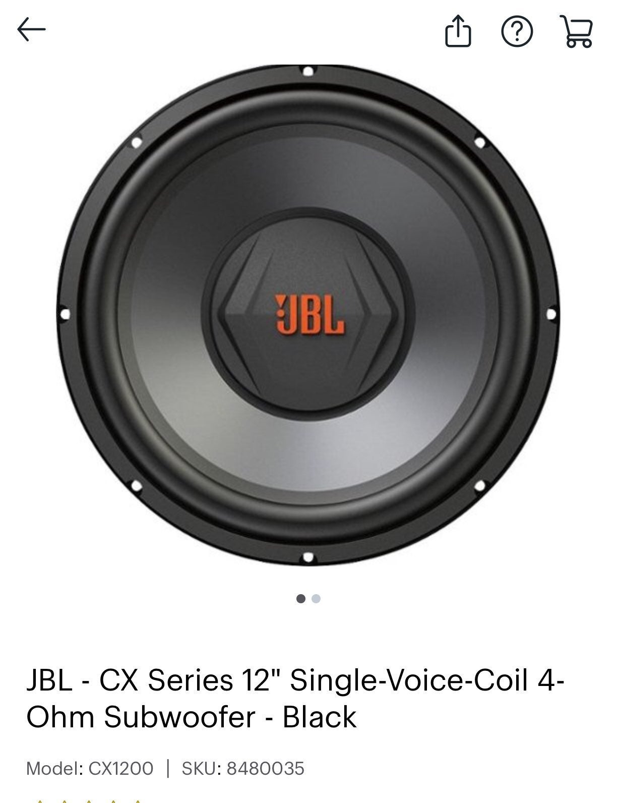 """2 JBL 12"""" subs brand new still in box ne"""