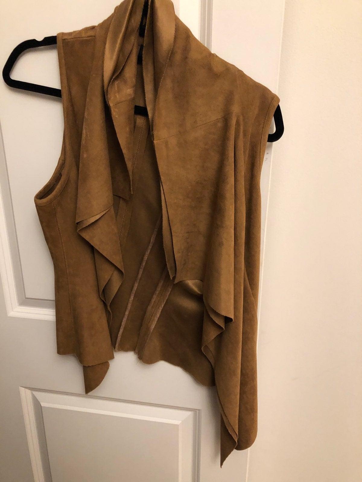 Karen Kane Brown Suede Vest Size XS