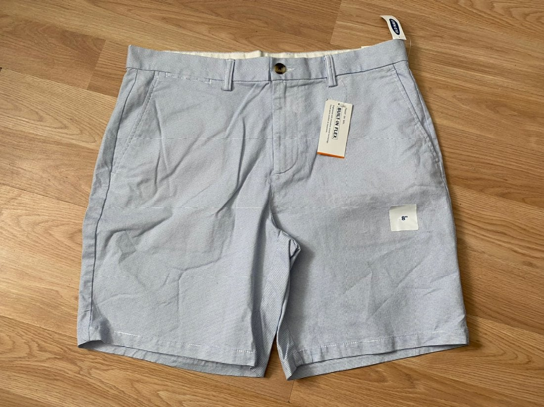 Old Navy Slim Shorts 36 NWT Blue