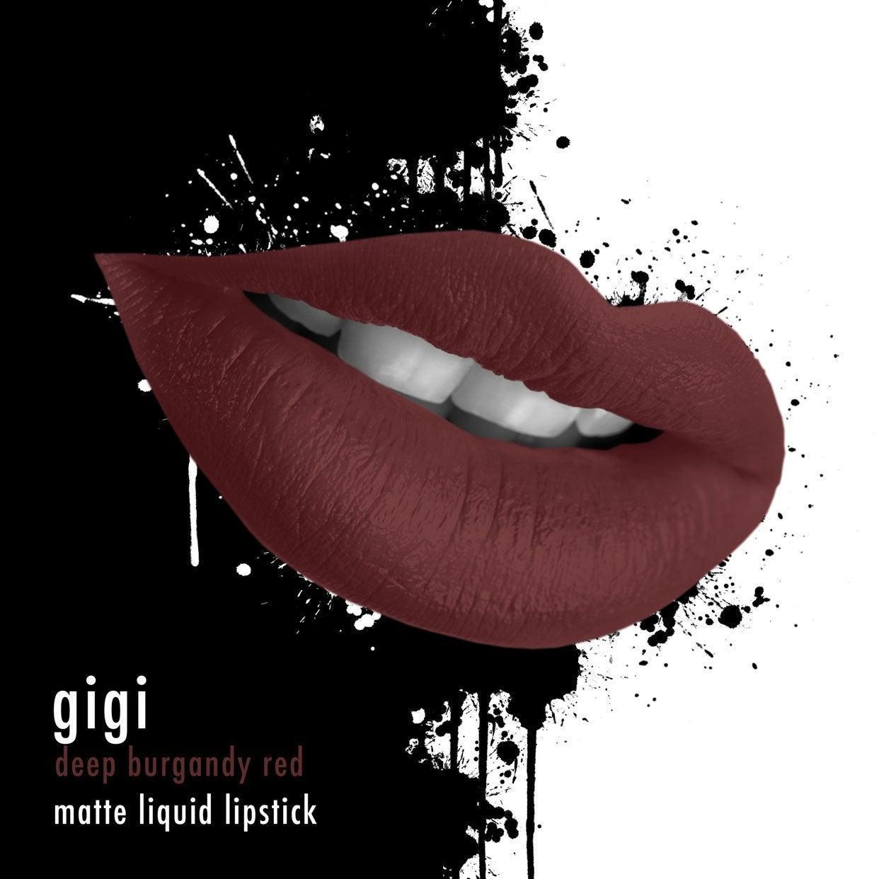 matte liquid lipstick - burgundy dark re
