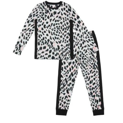 Cuddl Duds Girls Leopard Fleece Set-M