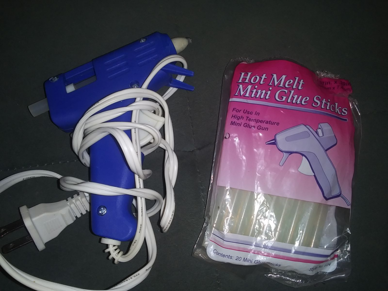 Hot glue gun and sticks