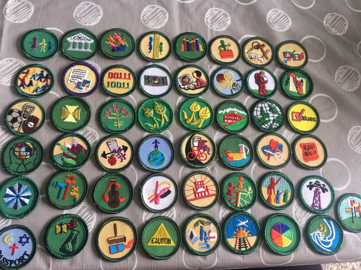 Lot of 49 Girl Scout Badges