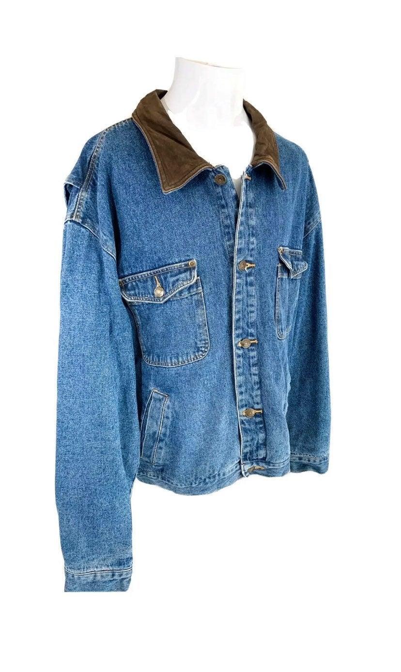 Geoffrey Beene Button Up Denim Jacket