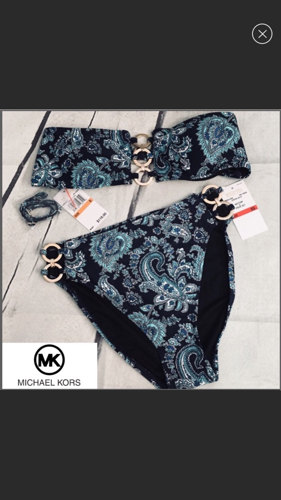 Michael Michael Kors 2 pc Bikini Set NWT