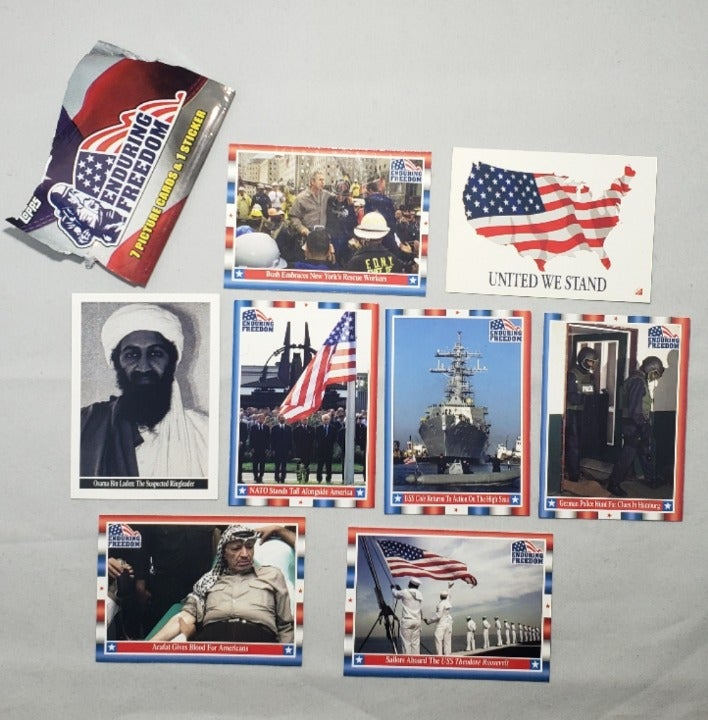 2001 Topps Enduring Freedom, Laden,Obama