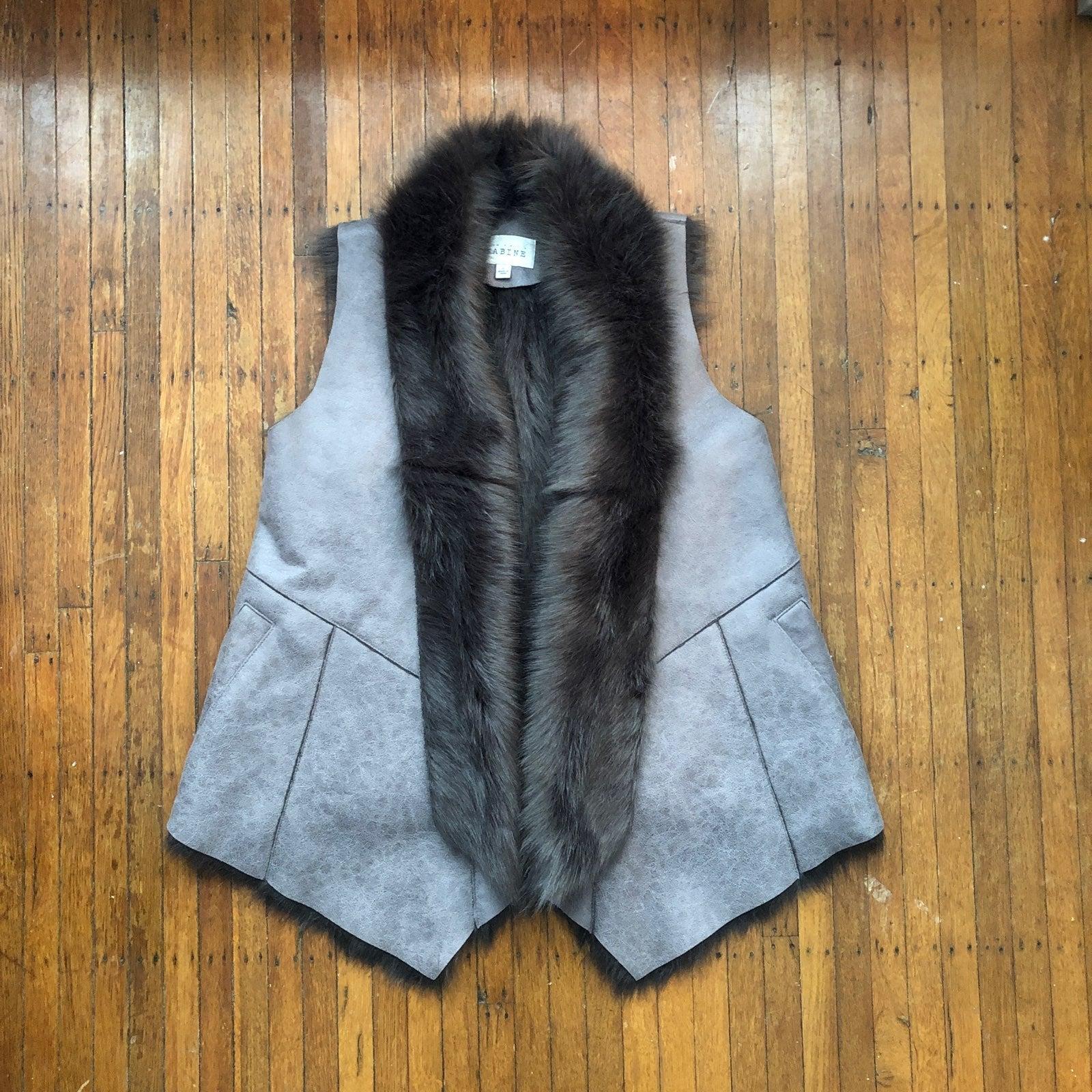 Sabine Faux Fur and Suede Vest