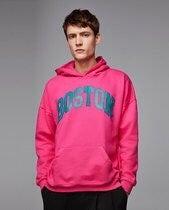 Zara City print sweatshirt M fuchsia
