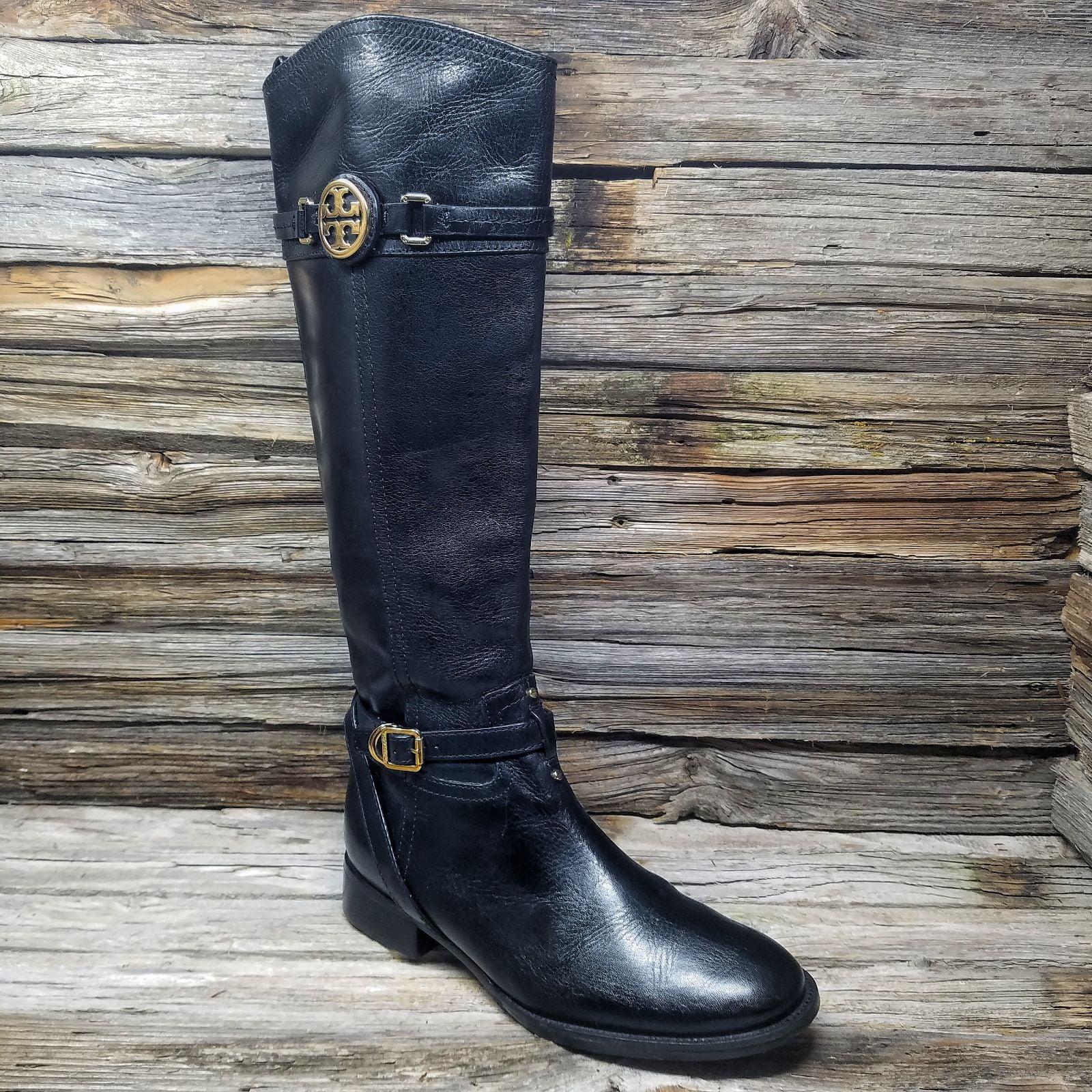 Tori Burch Calista Black Leather Boots
