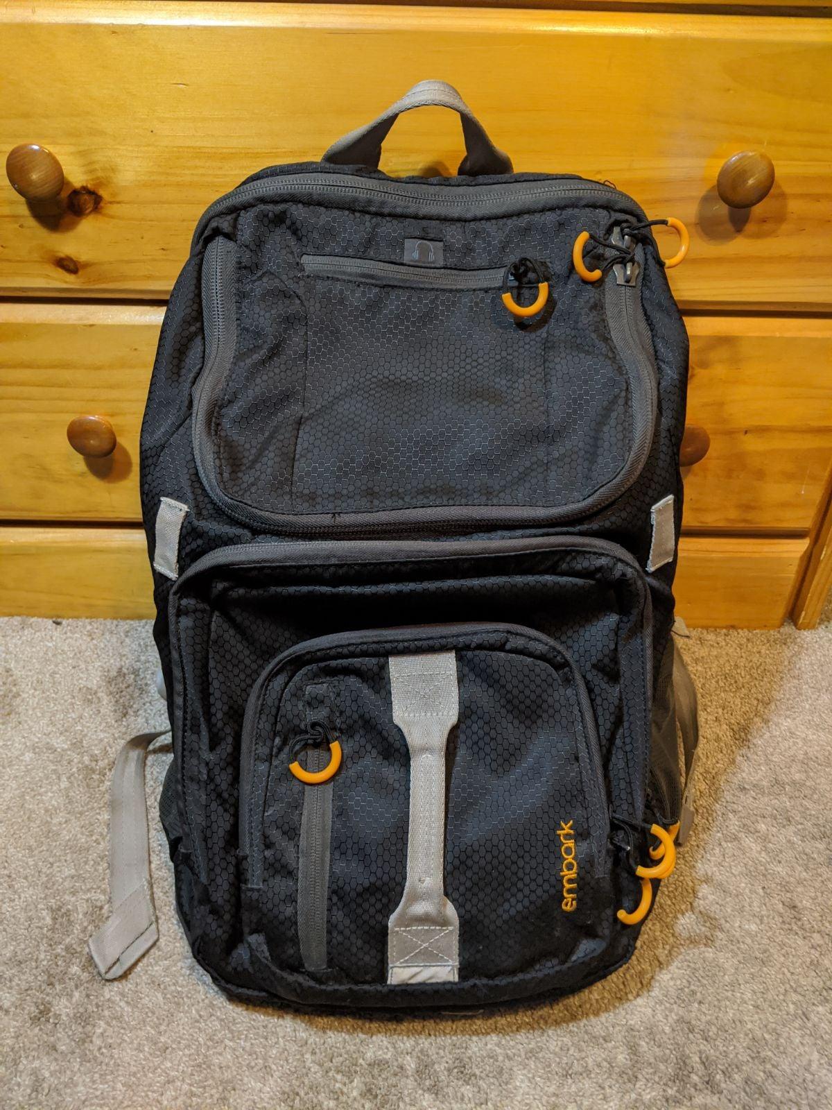 Embark Backpack Black/Orange