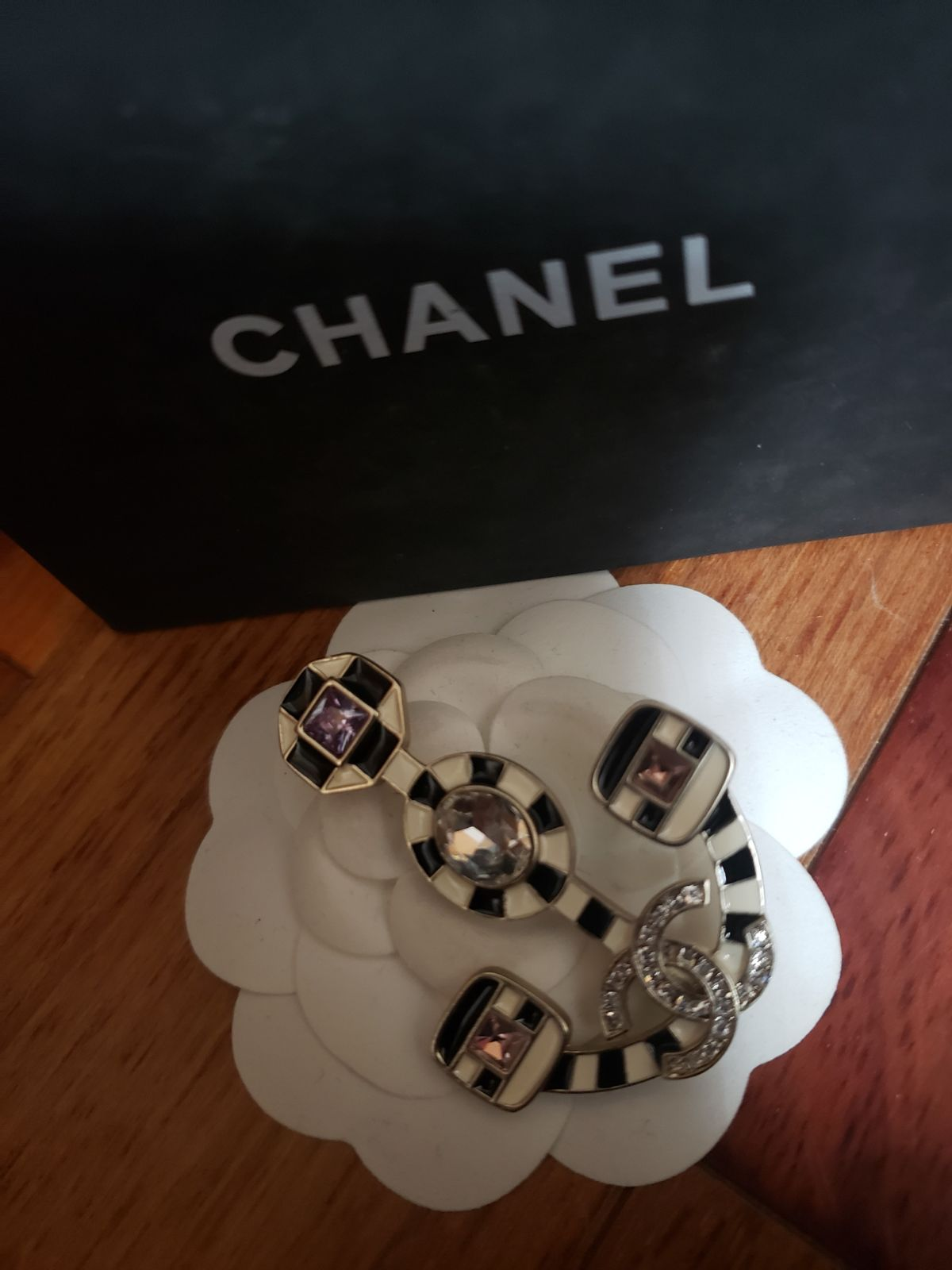 Chanel  Enamel Anchor Brooch
