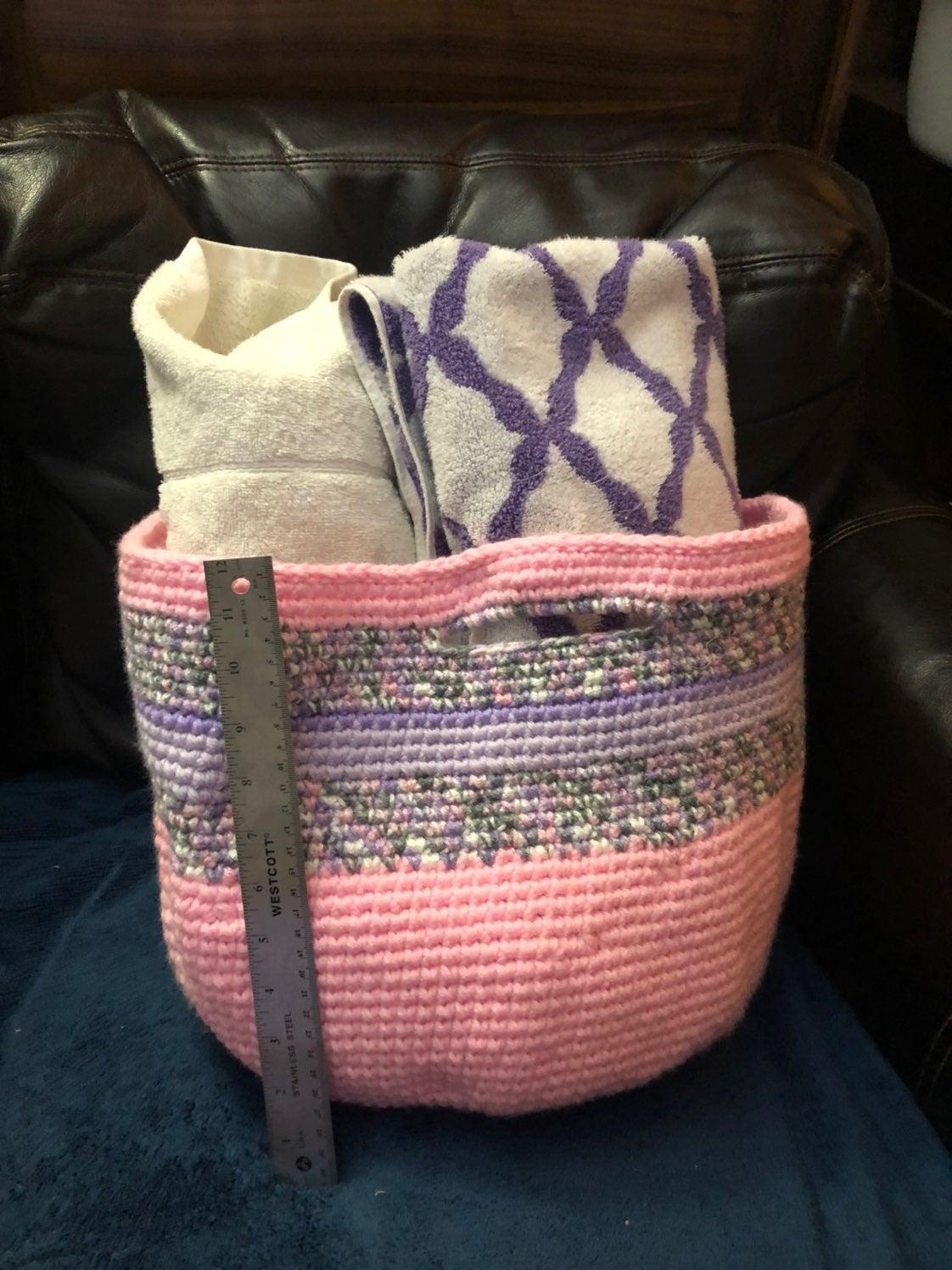 Pink and purple basket handmade