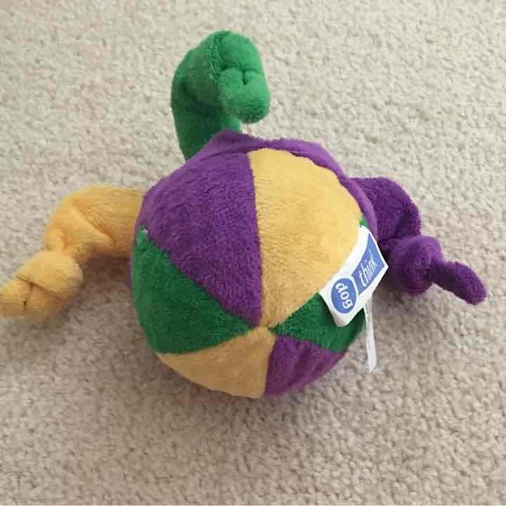 Dog Toy:  Mardi Gra Squeaker