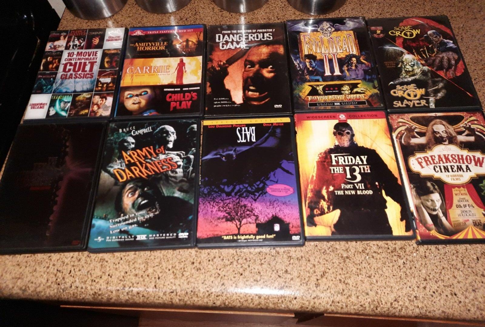 Horror DVD Lot Texas Chainsaw Massacre
