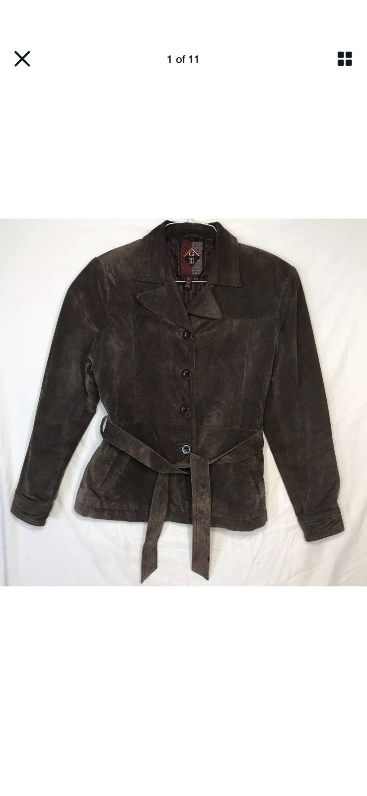 GIII Suede Leather Womens Medium Jacket