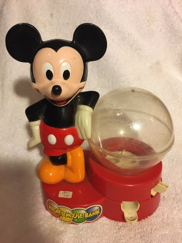 1986 Vintage Disney Micky Mouse Bank