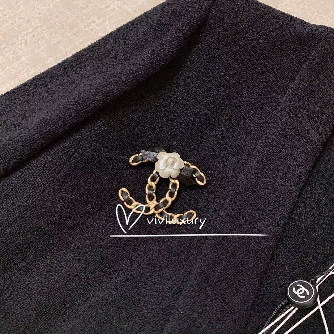 Chanel Brooch with Camellias