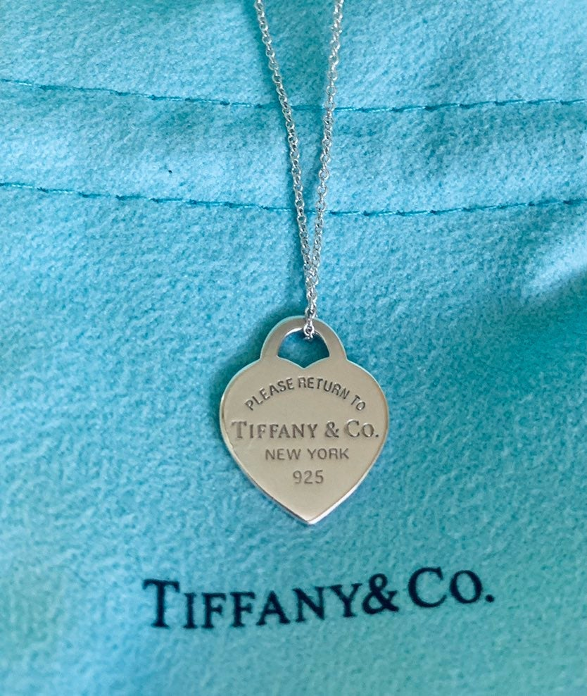 Tiffany & Co. Silver Heart Tag Necklace