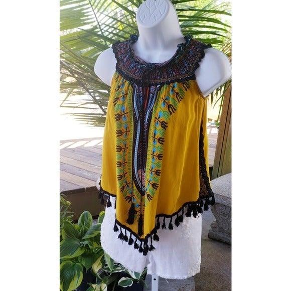 Cleo Boho Style Tassel Summer Vibes Top
