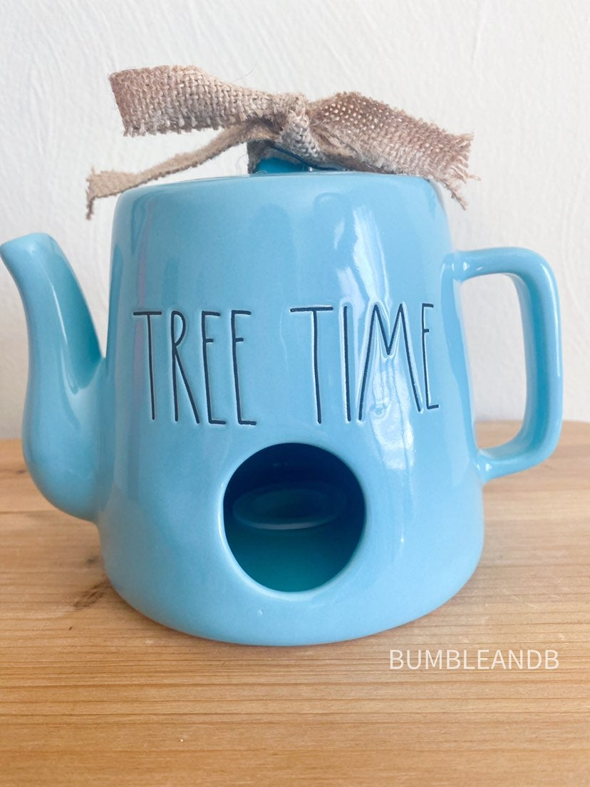 Rae Dunn Tree Time Teapot Birdhouse