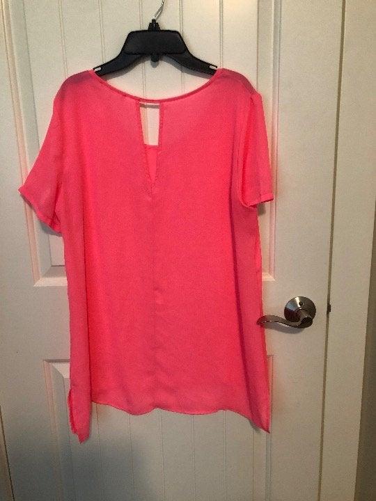 Hot pink sheer blouse