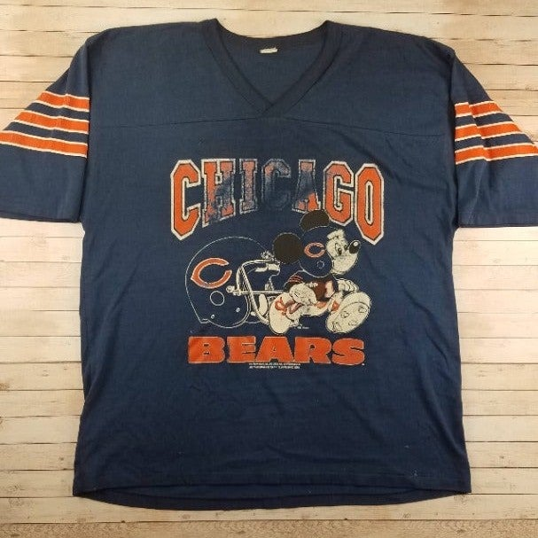 VTG 80s Chicago Bears Mickey Disney Tee