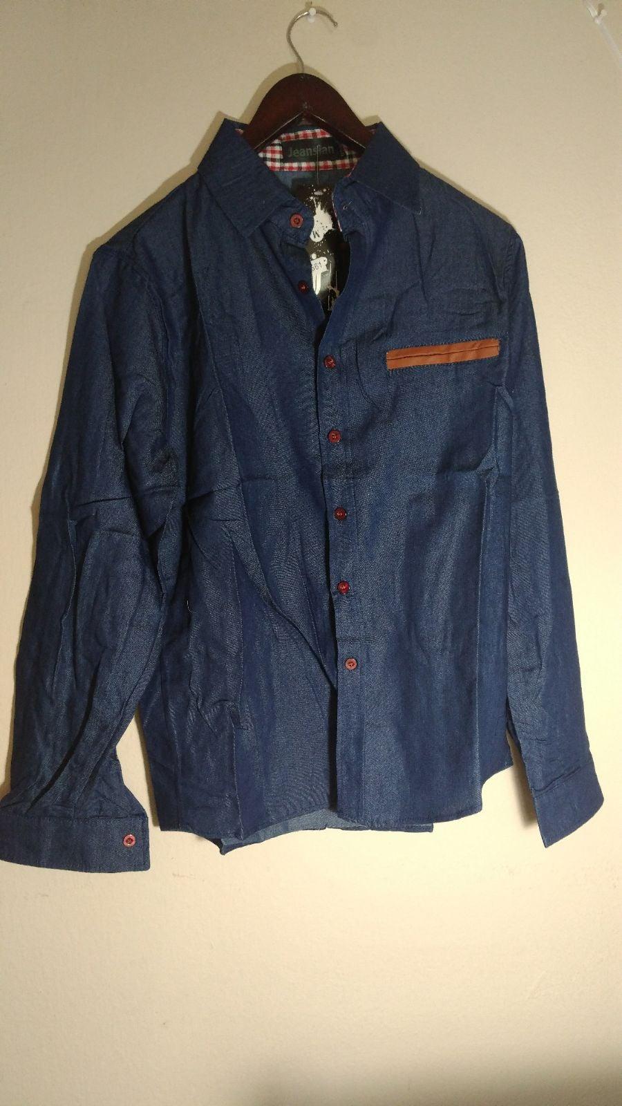 Jeansaian Navy men's shirt_M