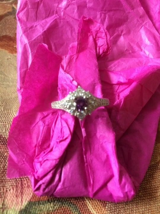 Ginger Lyne Serina purple stone ring 8