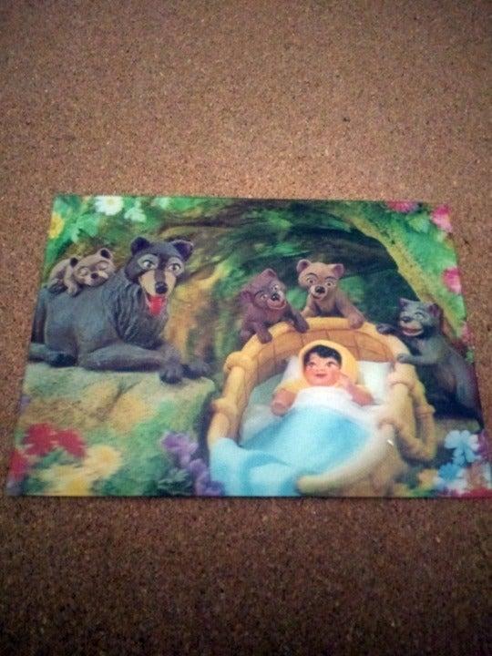 Disney Lenticular Jungle Book Postcard