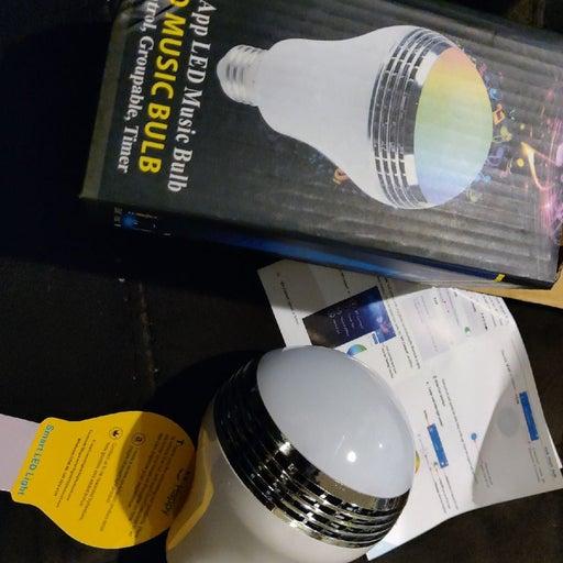 LED Bluetooth speaker light bulb