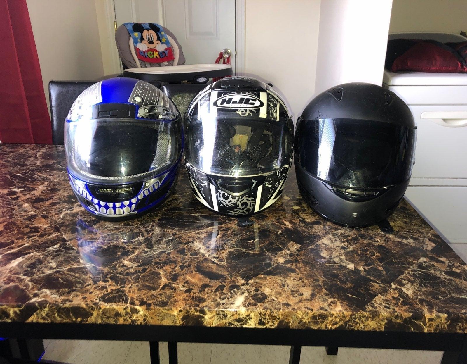 motorcycle helmet various sizes