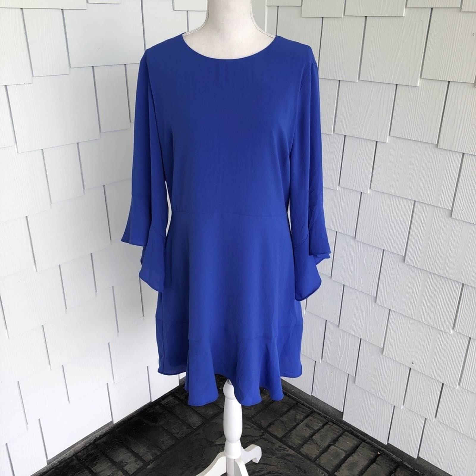 Bar III Cobalt Glaze Shift Dress sz 12