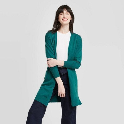 NEW A New Day long green cardigan - Med