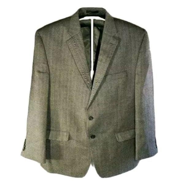 Chaps Men's Suit Coat Jacket Gray 48R