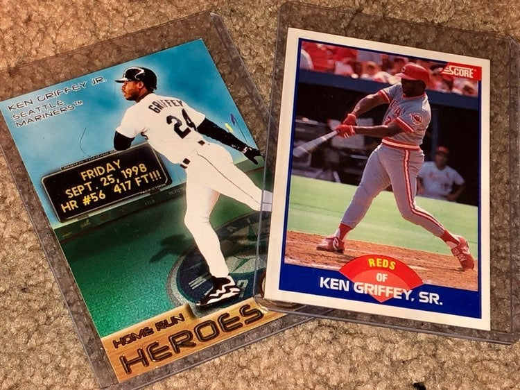 Griffey JR and SR Baseball Trading Cards