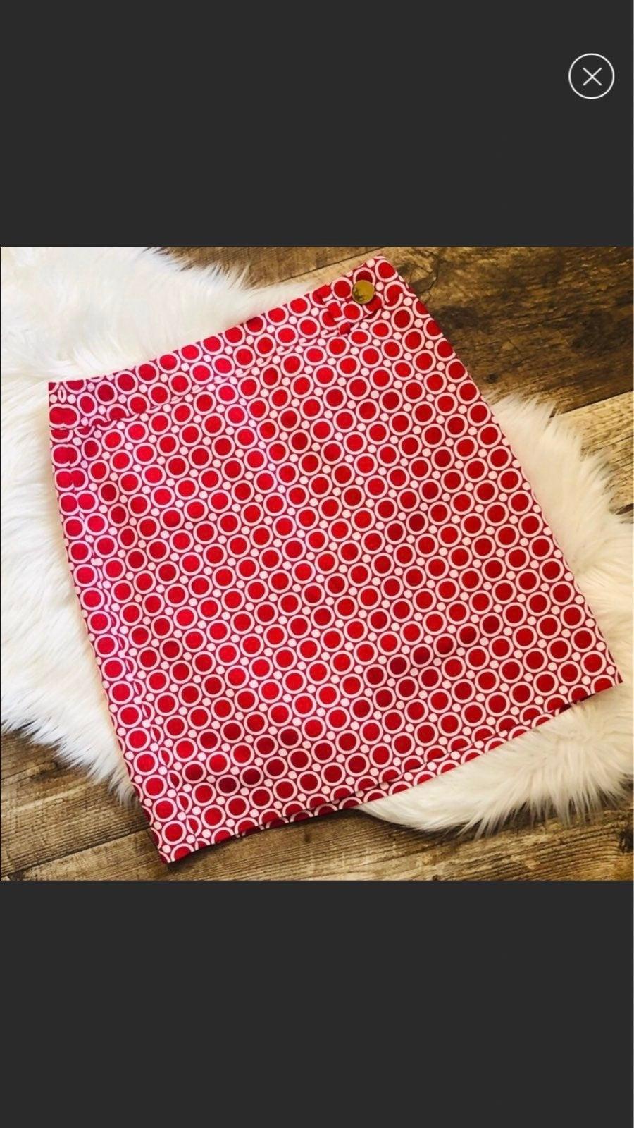 Ann Taylor Geometric Print Pencil Skirt