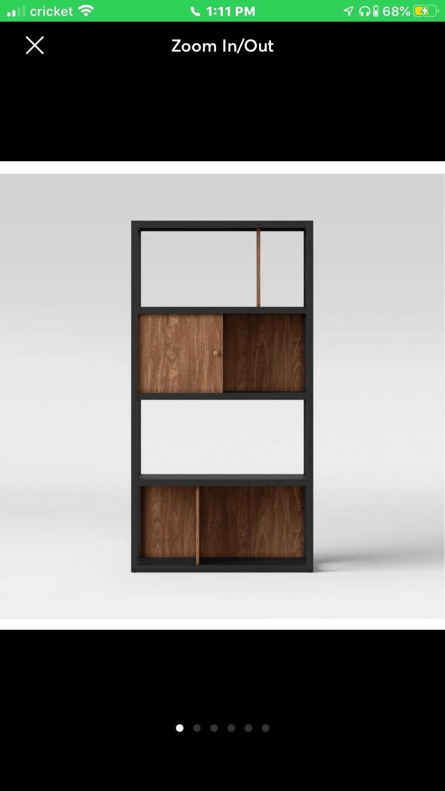 "65.9"" Siebert 4 shelf Vertical bookcase"
