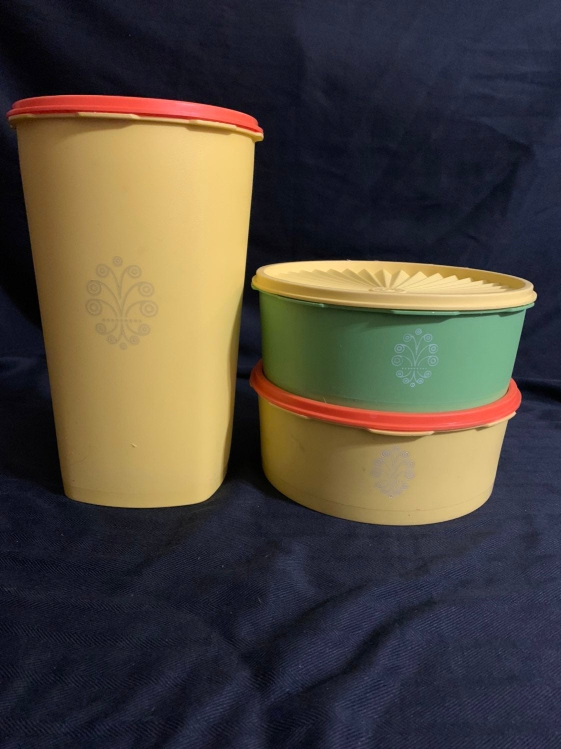 Vintage Tupperware Canisters Servalier