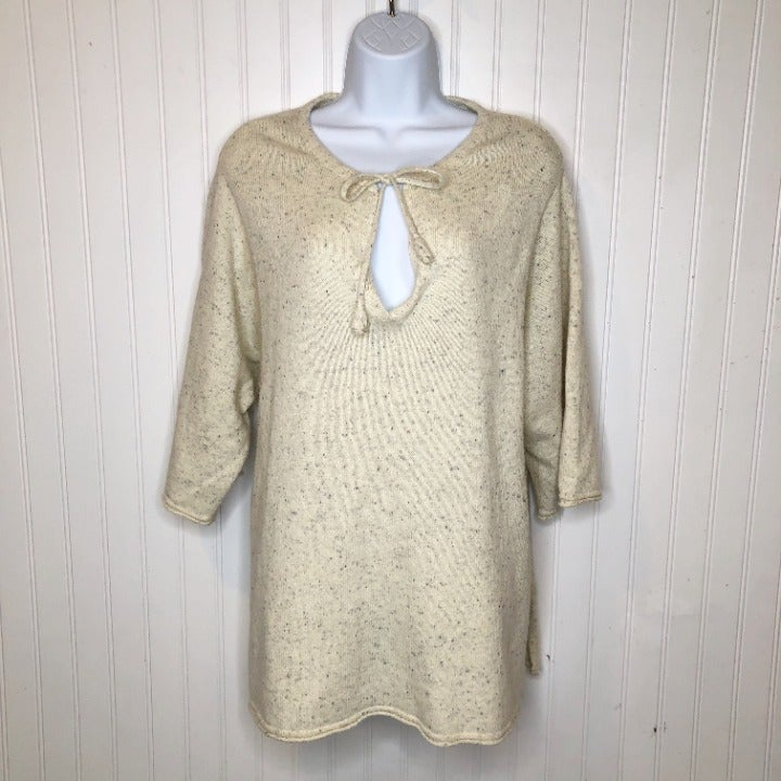 Pure Jill Pullover Sweater 3/4 Sleeve