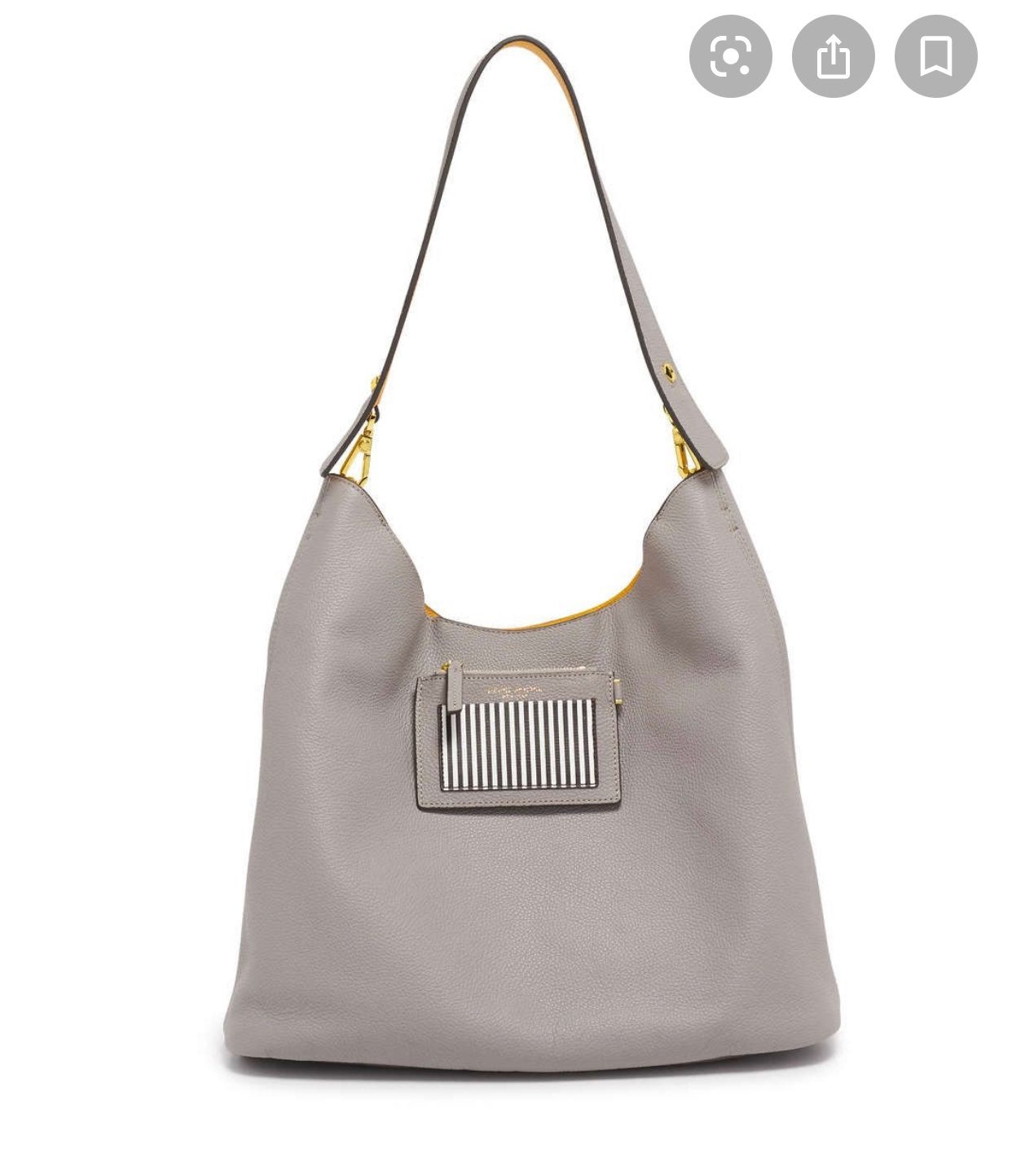 New Henri Bendel grey yellow influencer