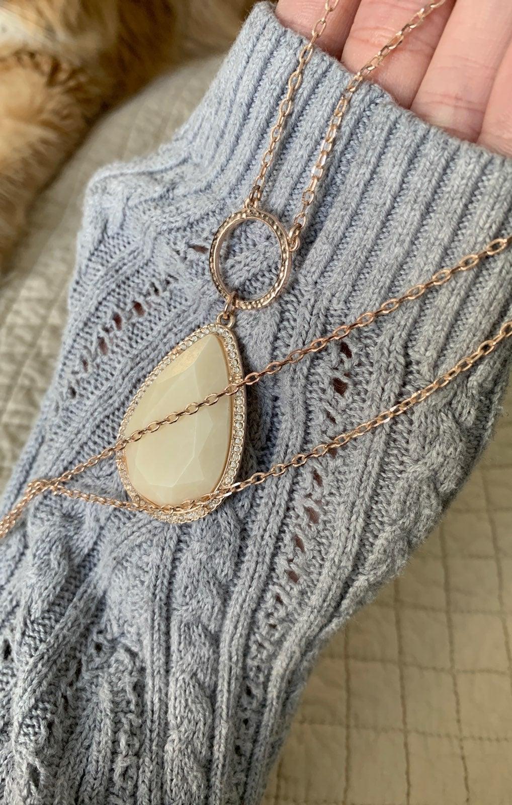 Jessica Simpson Quartz Necklace