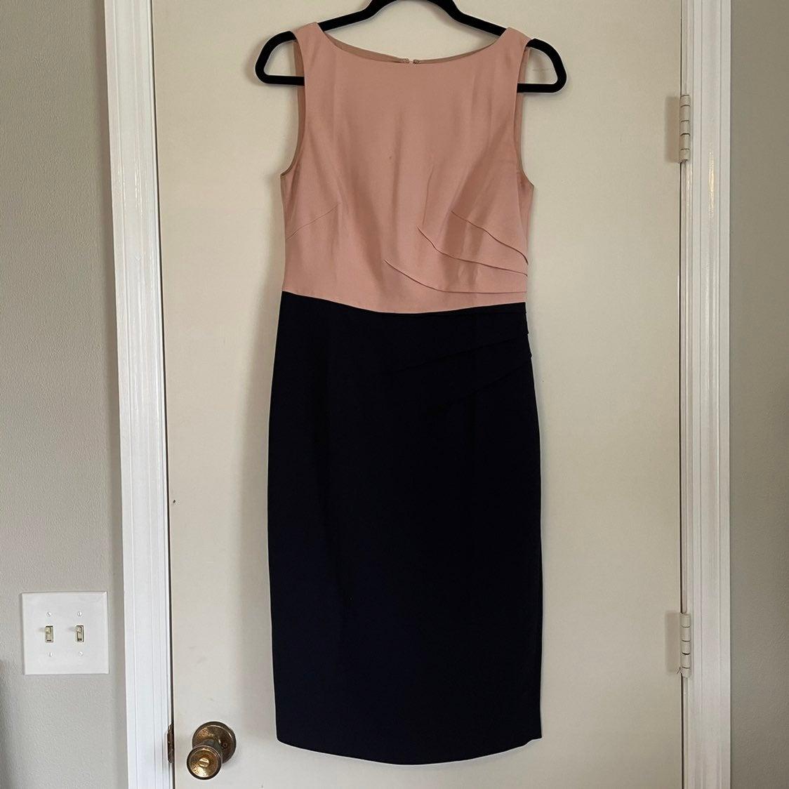 Hobbs Invitation dress 6 pink black